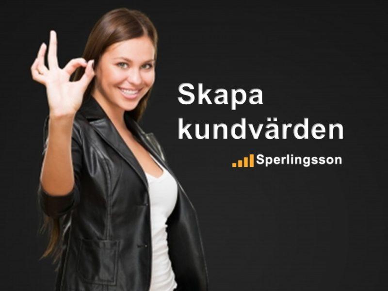 Skapa kundvärden | Inlägg av Stefan Sperlingsson | Lär dig bygga kundnöjdhet | Ring Sperlingsson direkt → → 0733-850216