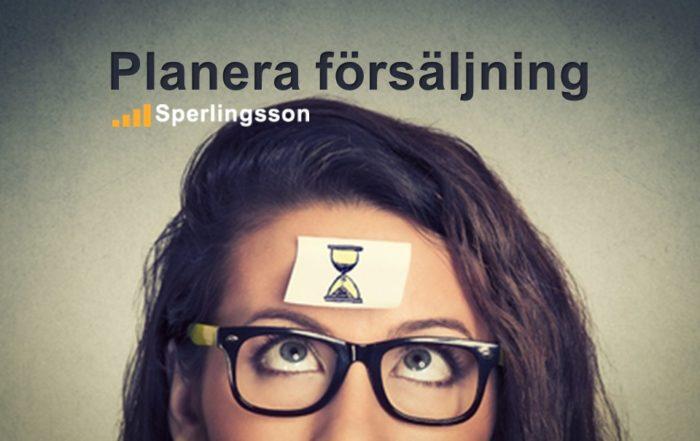 Planera försäljning   Inlägg av Stefan Sperlingsson   Lär dig bygga kundnöjdhet   Ring Sperlingsson direkt → → 0733-850216