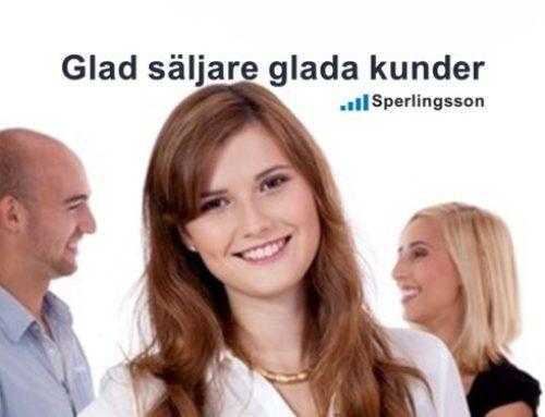 Glad säljare glada kunder