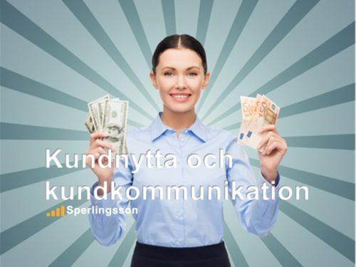 Kundnytta och kundkommunikation - en säljutbildning | Ring Sperlingsson direkt →→ 0733-850216