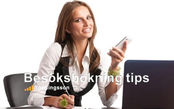 Besöksboknings tips | Inlägg av Stefan Sperlingsson | Lär dig bygga kundnöjdhet | Ring Sperlingsson direkt → → 0733-850216