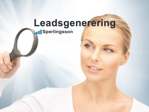 Leadsgenerering genom säljträning av din kunddialog | Inlägg av Stefan Sperlingsson | Lär dig bygga kundnöjdhet | Ring Sperlingsson direkt → → 0733-850216