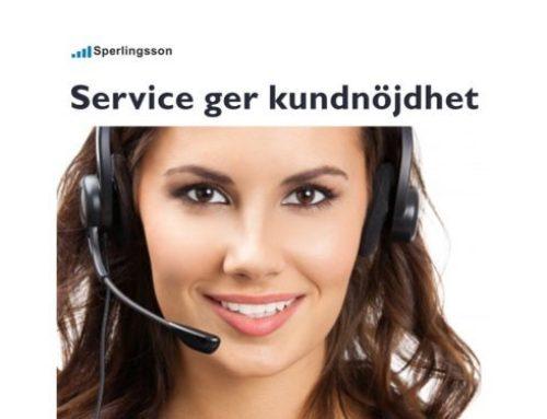 Vilja jobba med service och nå framgång hos dina kunder