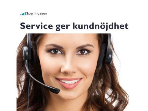 Vilja jobba med service och nå framgång hos dina kunder | Inlägg av Stefan Sperlingsson | Lär dig bygga kundnöjdhet | Ring Sperlingsson direkt → → 0733-850216