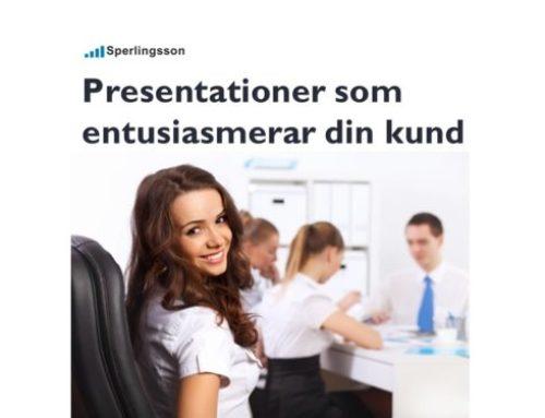 Presentation av företag för potentiella kunder