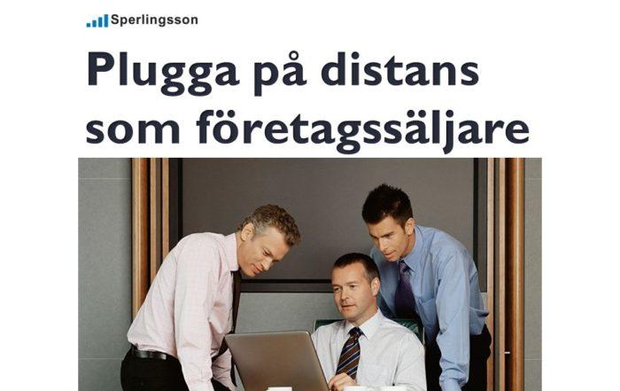 Plugga på distans som företagssäljare | Inlägg av Stefan Sperlingsson | Lär dig bygga kundnöjdhet | Ring Sperlingsson direkt → → 0733-850216 möte.