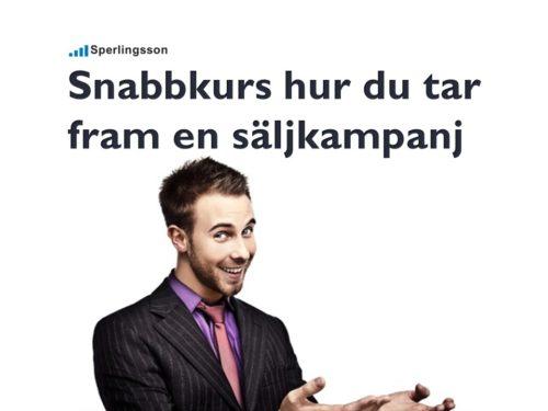 Säljutbildning online göra en säljkampanj | Inlägg av Stefan Sperlingsson | Lär dig bygga kundnöjdhet | Ring Sperlingsson direkt → → 0733-850216 möte.