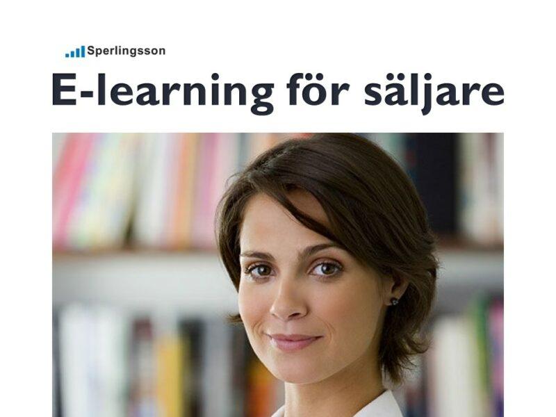 E-learning för säljare - intensivkurs| Inlägg av Stefan Sperlingsson | Lär dig bygga kundnöjdhet | Ring Sperlingsson direkt → → 0733-850216 möte.