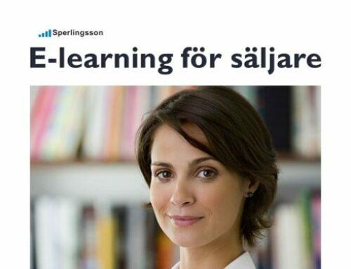 E-learning för säljare ger bättre säljförmåga för en lägre peng