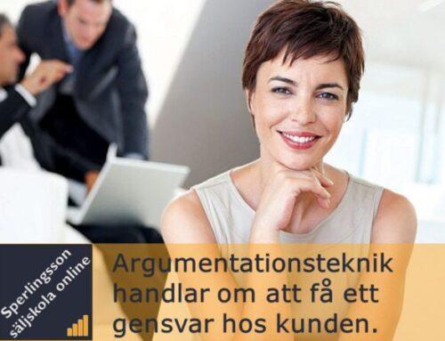 Argumentationsteknik som gör att du får kundens gensvar